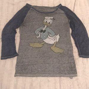 Disney Donald Duck Childs Long Sleeve Shirt